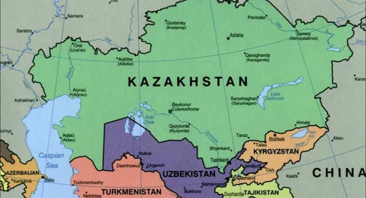 Asia Centrale Cartina Geografica.L Opinione Delle Liberta